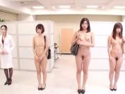 Bizarre CMNF JAV nudist insurance saleswomen Subtitled