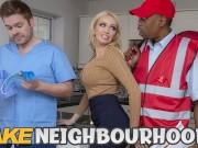 FAKE Neighbourhood Hot wife busty MILF needs a big black cock