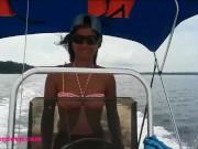 Driving my boat in Bocas Del Toro then Deepthroat Throatpie