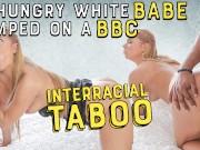 BLACK4K. Nice white chick Chrissy Fox meets her future black